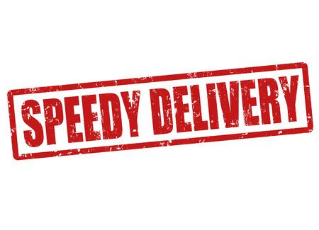 speedy: Speedy delivery grunge rubber stamp on white, vector illustration Illustration