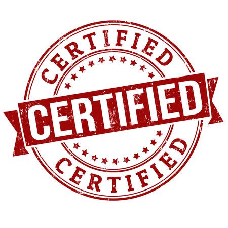 Timbre en caoutchouc grunge certifié sur blanc, illustration vectorielle Banque d'images - 24057454