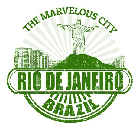 Grunge rubber stamp with the name of Rio de Janeiro   The Marvelous City   written inside, vector illustration Vector