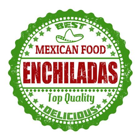 enchiladas: Enchiladas grunge rubber stamp on white, vector illustration Illustration