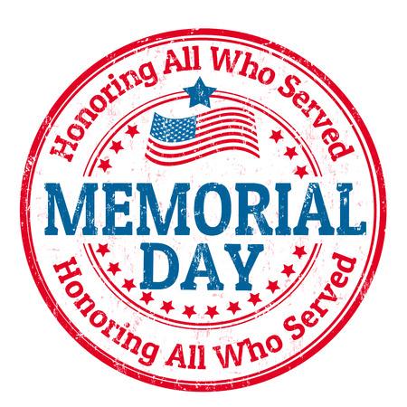 tag: Grunge Stempel mit dem Text Memorial Tag geschrieben innen, Vektor-Illustration Illustration