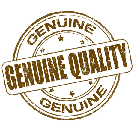 Genuine quality grunge office rubber stamp on white , vector illustration Vector