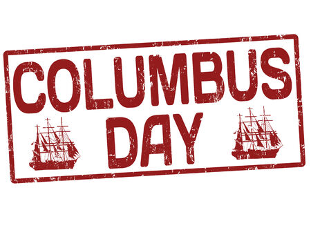 Columbus day grunge office rubber stamp on white , vector illustration Stock Vector - 24192365
