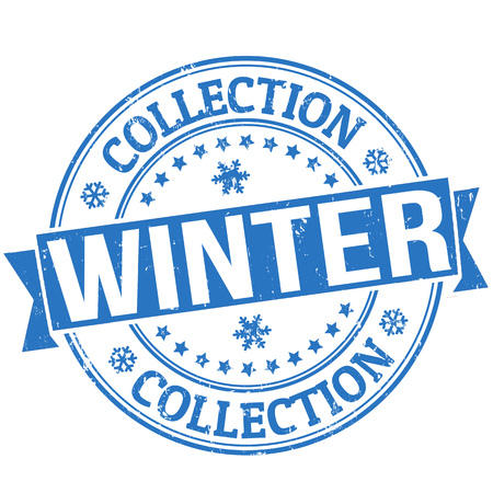 Winter collection grunge rubber stamp or label on white, vector illustration Stock Vector - 24349231