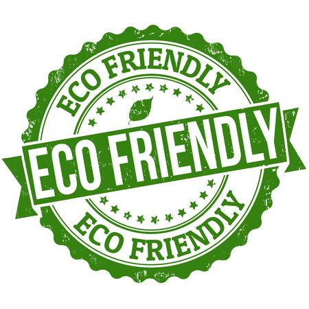 Eco-vriendelijke grunge rubberen stempel op wit, vector illustratie
