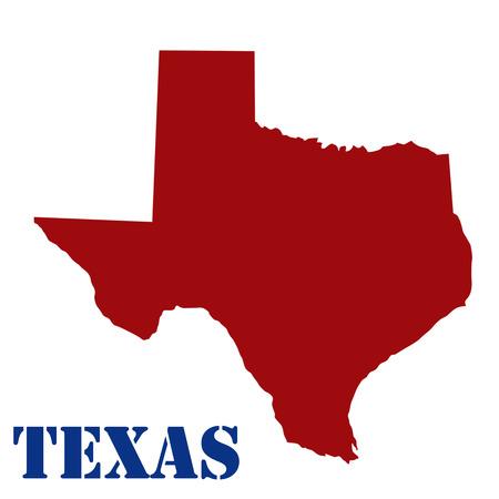 forme: Carte du Texas sur fond blanc, illustration vectorielle Illustration
