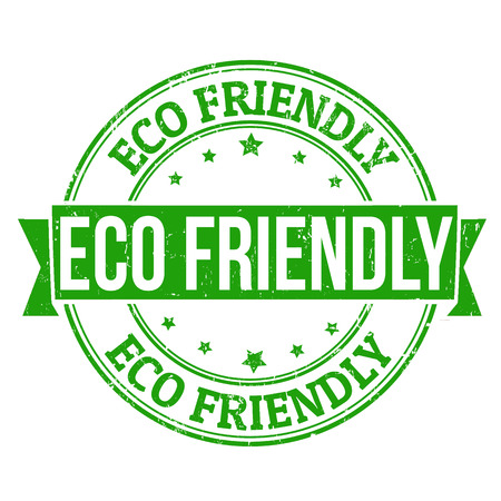clean environment: Eco friendly grunge rubber stamp on white, vector illustration