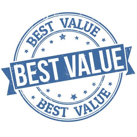 Meilleure rubber stamp valeur de grunge sur fond blanc, illustration vectorielle