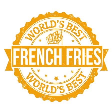 Grunge rubber stamp, with the text french fries written inside, vector illustration Vector