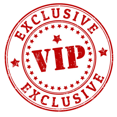 vip badge: Grunge exclusive vip rubber stamp, vector illustration