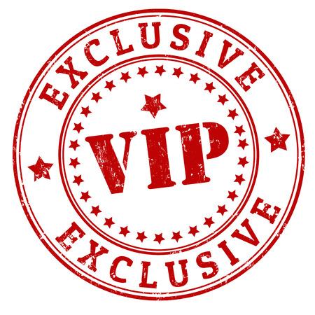 Grunge exklusiven VIP-Stempel, Vektor-Illustration Standard-Bild - 24476496