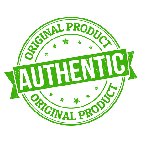 authenticity: Authentic, original product grunge rubber stamp on white, vector illustration