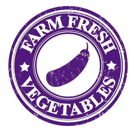 inspected: Eggplant vegetable grunge rubber stamp or label on white, vector illustration Illustration