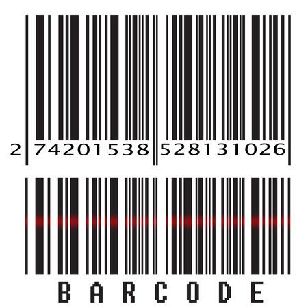 scanning: Isolated bar code on white background, vector illustration Illustration