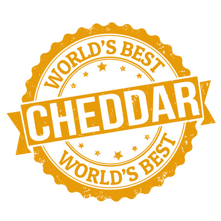 cheddar: Grunge rubber stamp with the word cheddar written inside, vector illustration