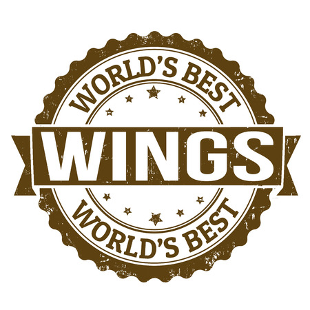 Grunge rubber stamp with the word wings written inside, vector illustration Vector