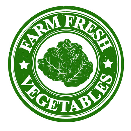 inspected: Lettuce vegetable grunge rubber stamp or label on white, vector illustration