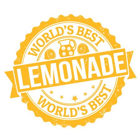Grunge rubber stamp with the word Lemonade written inside, vector illustration Vector