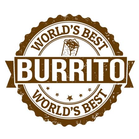 pollo rostizado: Grunge sello de goma con la palabra Burrito escrito en su interior, ilustración vectorial Vectores