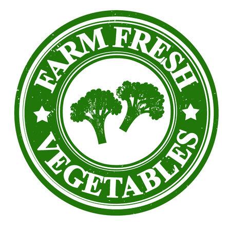 inspected: Cauliflower vegetable grunge rubber stamp or label on white, vector illustration