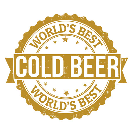 Grunge rubber stamp with the word Cold Beer written inside, vector illustration Vector