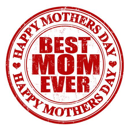 mummie: Grunge Moeders Dag van de postzegel