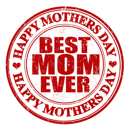 Grunge Mothers Day stamp Vector