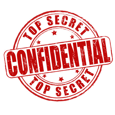 Top secret, confidential grunge rubber stamp on white Vector