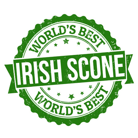 scone: Grunge rubber stamp with the word Irish scone written inside, vector illustration Illustration
