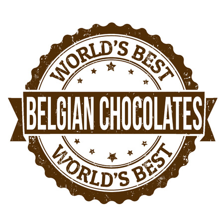 top menu: Grunge rubber stamp with the text Belgian Chocolates written inside, vector illustration