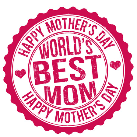 Happy mothers day grunge rubber stamp, vector illustration Vector