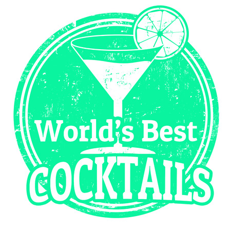 Grunge rubber stamp with the word Cocktails written inside, vector illustration Vector
