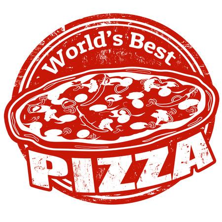 seasoned: Pizza vintage sign vector illustration