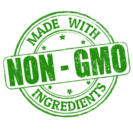 gmo: Made with Non - GMO ingredients grunge rubber stamp, vector illustration Illustration