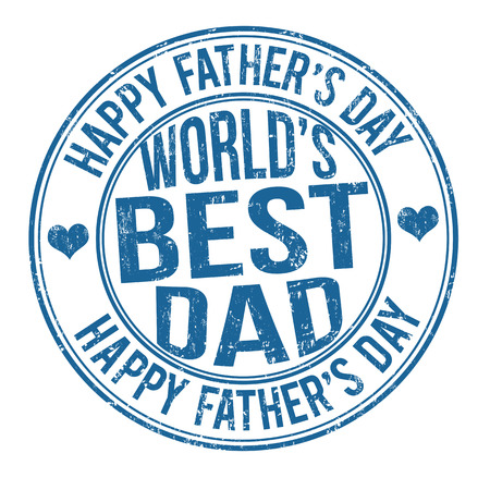 Grunge Father's day rubber stamp on white, vector illustration Vector