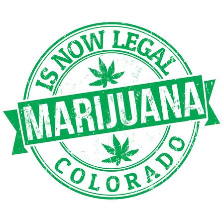 marihuana: La marihuana es legal, Colorado grunge sello de goma, ilustraci�n vectorial
