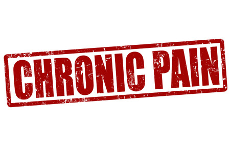 emotional pain: Chronic pain red grunge rubber stamp on white, vector illustration Illustration