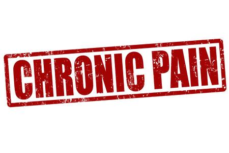 La douleur chronique rouge grunge timbre en caoutchouc sur fond blanc, illustration vectorielle