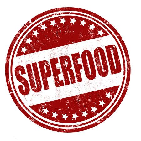superfood: Superfood grunge rubber stamp on white, vector illustration