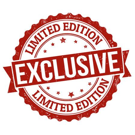 Exclusivo, edición limitada grunge sello de goma en blanco, ilustración vectorial Ilustración de vector
