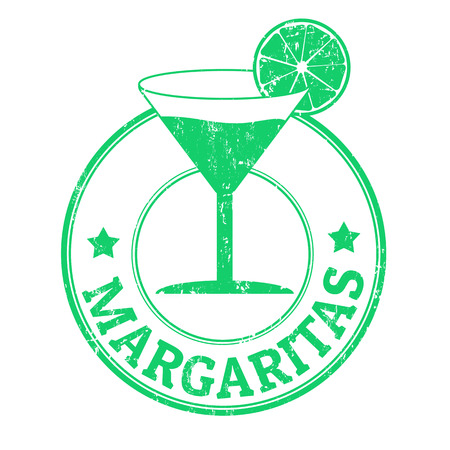 Margaritas grunge rubber stamp on white background, vector illustration illustration