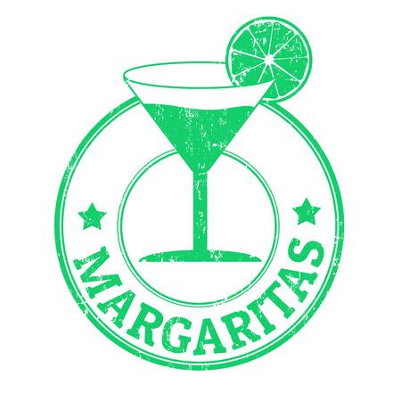 margaritas: Margaritas grunge rubber stamp on white background, vector illustration Stock Photo