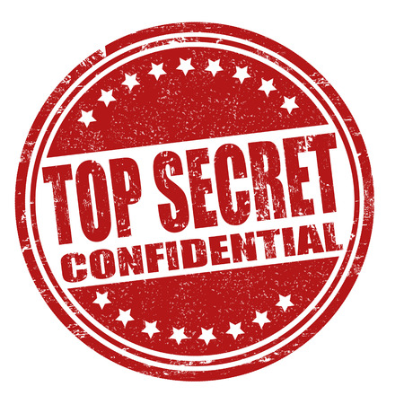 confidential: Top secret grunge rubber stamp on white, vector illustration