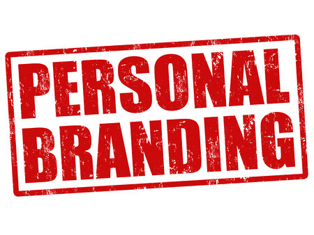 brand label: Personal branding grunge rubber stamp on white Illustration