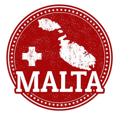 内側とマルタ、ベクトル図の地図を書いて世界マルタとスタンプ