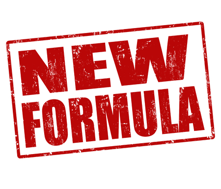 New formula grunge rubber stamp on white, vector illustration Vector