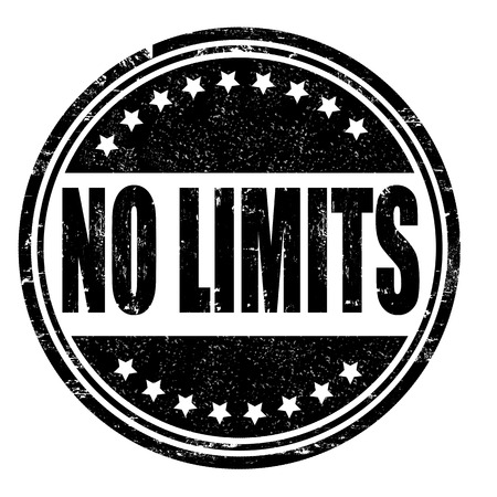 No limits grunge rubber stamp on white, vector illustration Vector