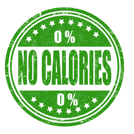 calories: No calories grunge rubber stamp on white, vector illustration Illustration