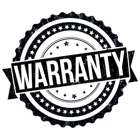 Warranty grunge rubber stamp on white, vector illustration Vector