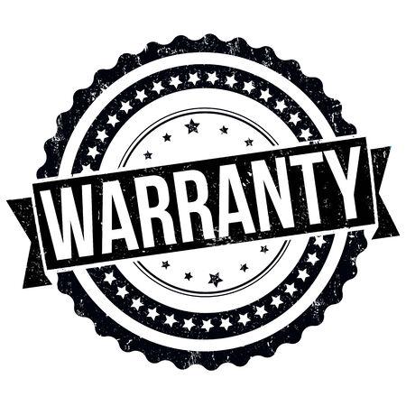 surety: Warranty grunge rubber stamp on white, vector illustration Illustration